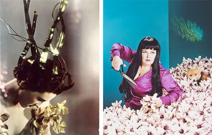 L: Madame Yevonde, Lady Bridgett Poulett as Arethusa (1935) R: Neeta Madahar, Anna with Magnolias (2010)