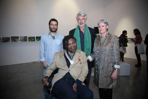 Yinka Shonibare, Chris Dercon, Tessa Jackson and Burak Delier at Iniva Fund launch