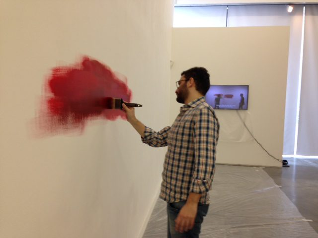 Burak Delier, installing Collectors Wish